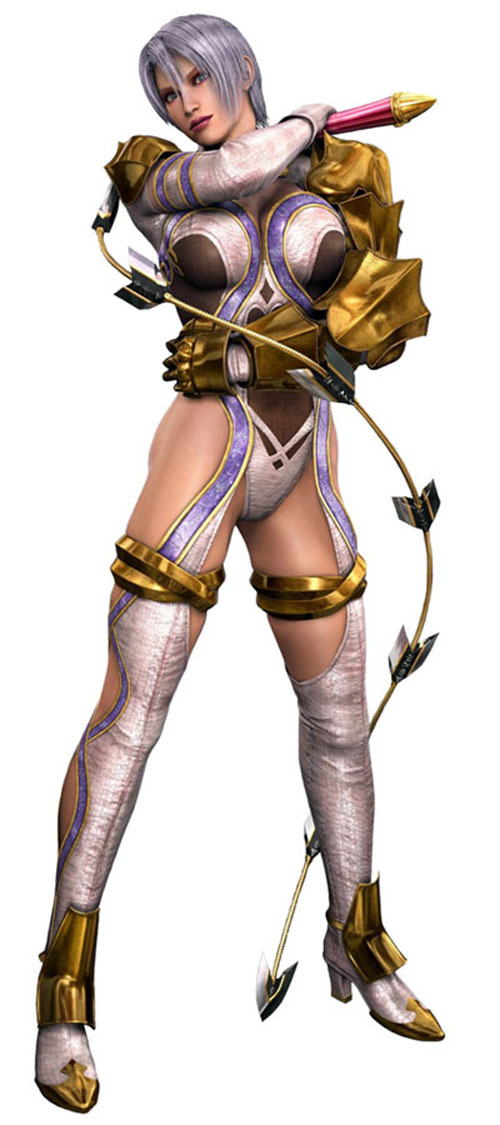 Ivy (Soul Calibur) in white and gold