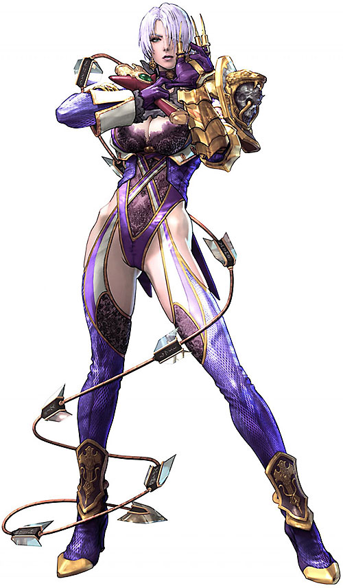 Ivy (Soul Calibur) with a snake and skull shoulder pad