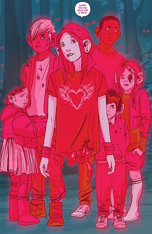 Izabel the Horror (Saga comics Image) and ghost children