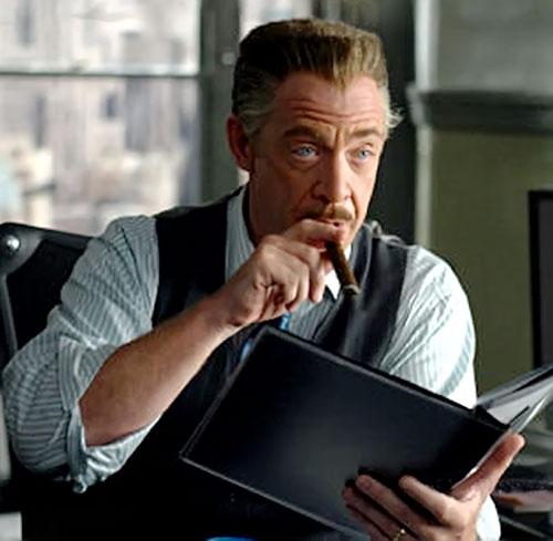 JK Simmons as J Jonah Jameson in Spider-Man movies