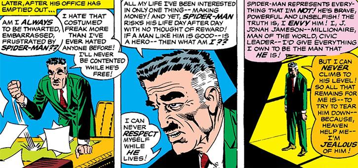 J.J. Jameson about Spider-Man