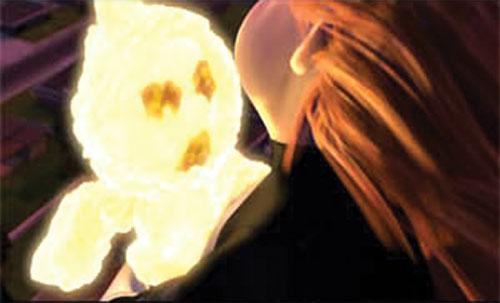 Jack-Jack (The Incredibles baby) ablaze