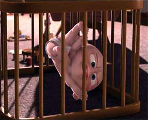 Jack-Jack (The Incredibles baby) climbing