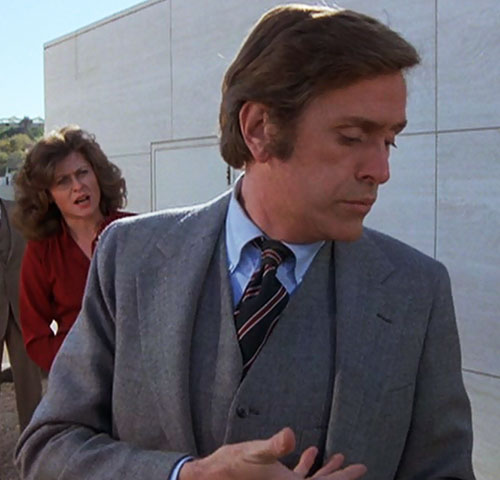Jack McGee (Jack Colvin in The Incredible Hulk TV series) gray suit