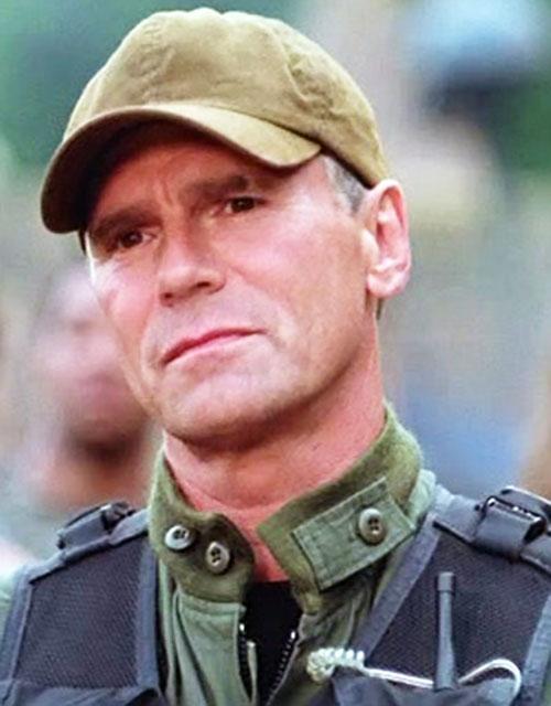 Jack O'Neill (Richard Dean Anderson in Stargate) face closeup