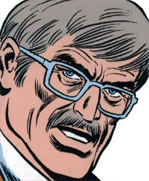 The Jackal (Miles Warren) (Marvel Comics) unmasked face closeup