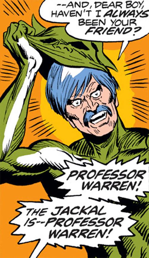 The Jackal (Miles Warren) (Marvel Comics) unmasks