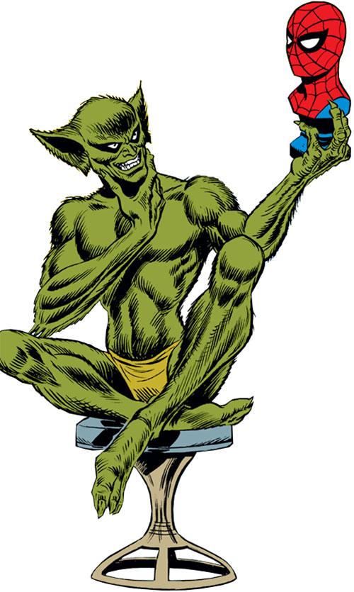 The Jackal (Miles Warren) (Marvel Comics) and a sculpted Spider-Man head