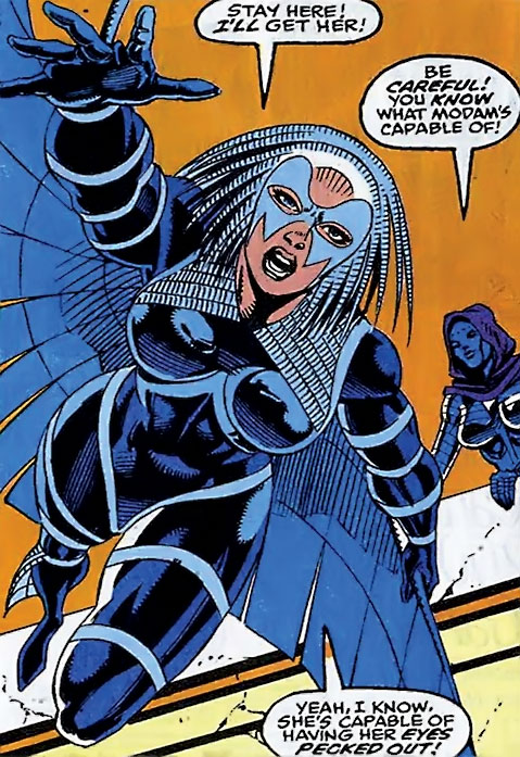 Jackdaw aka Blackbird (Marvel Comics) and Iron Maiden