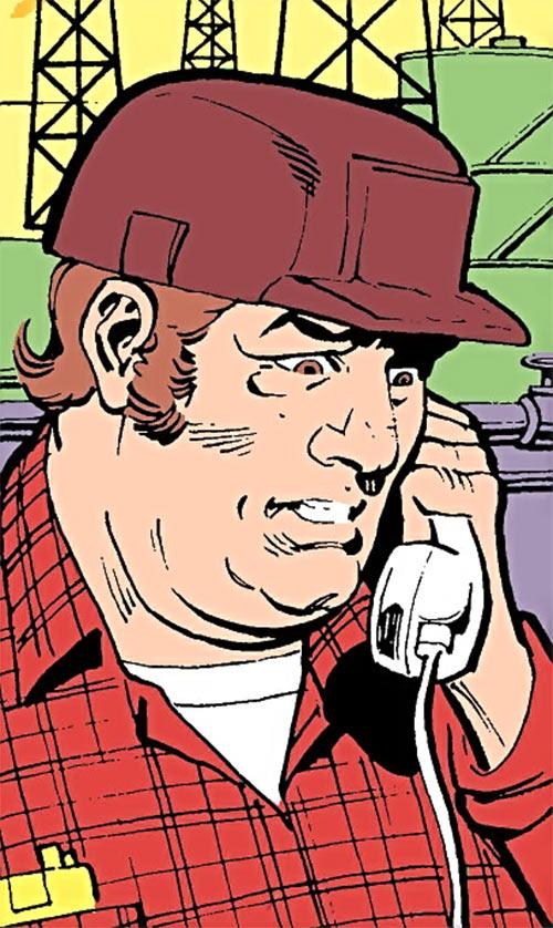 Jackhammer (Demolition Team) (DC Comics) on the phone