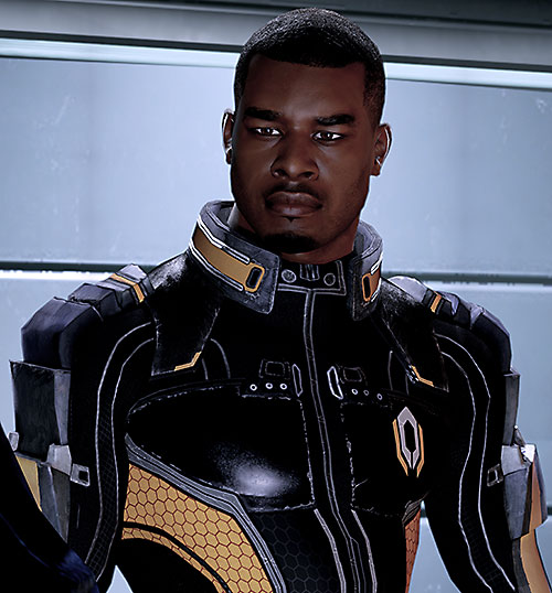 Jacob Taylor (Mass Effect) squinting