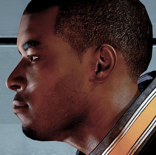 Jacob Taylor (Mass Effect) face closeup side view