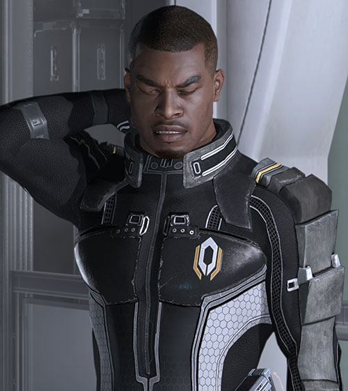 Jacob Taylor (Mass Effect) uncomfortable