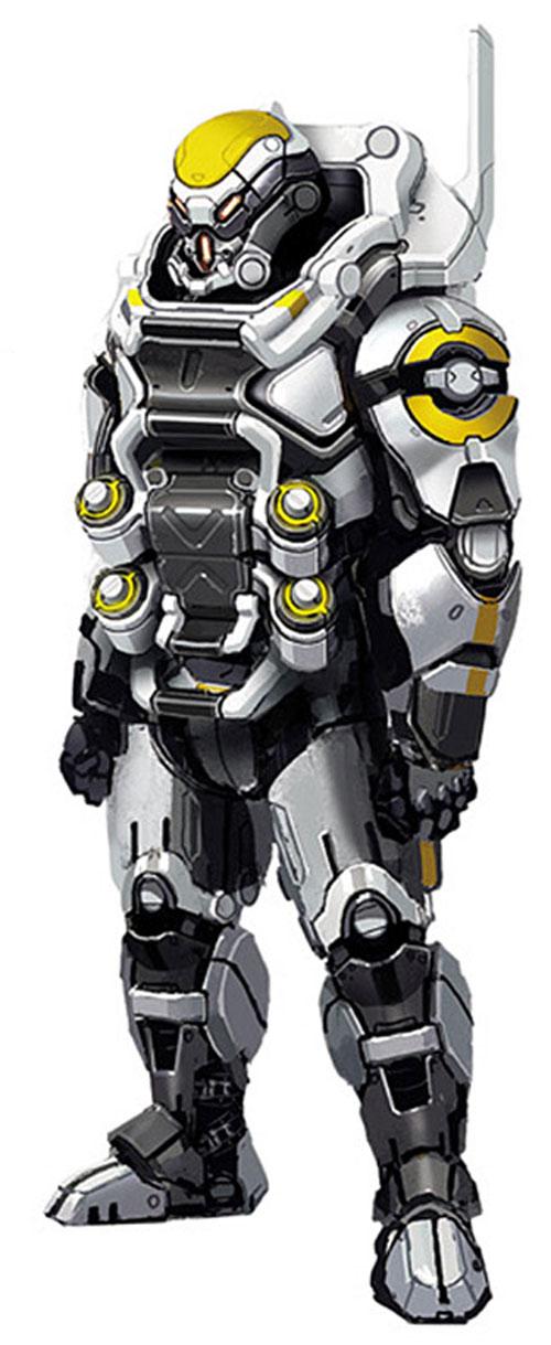Cerberus heavy body armor in Mass Effect