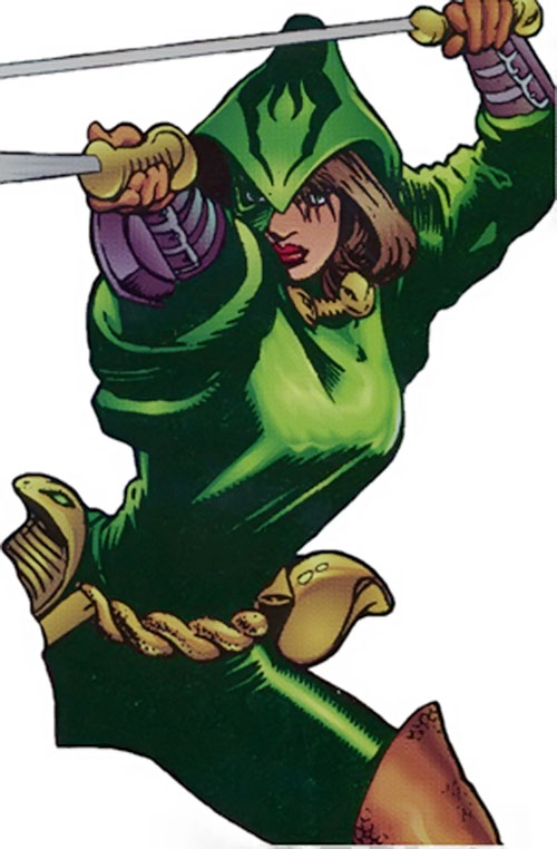 Jade Cobra of Strikeback! (Malibu and Image comics) with paired swords
