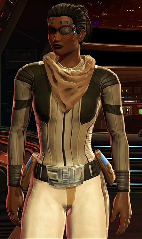 SWTOR - Star Wars the Old Republic- Cyborg republic trooper light fatigues and scarf