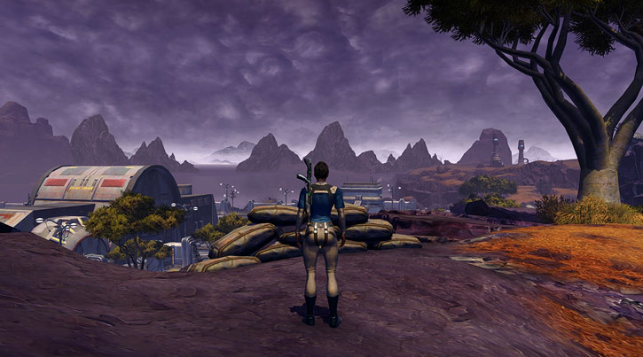 Ord Mantell landscape and skybox in Star Wars the Old Republic