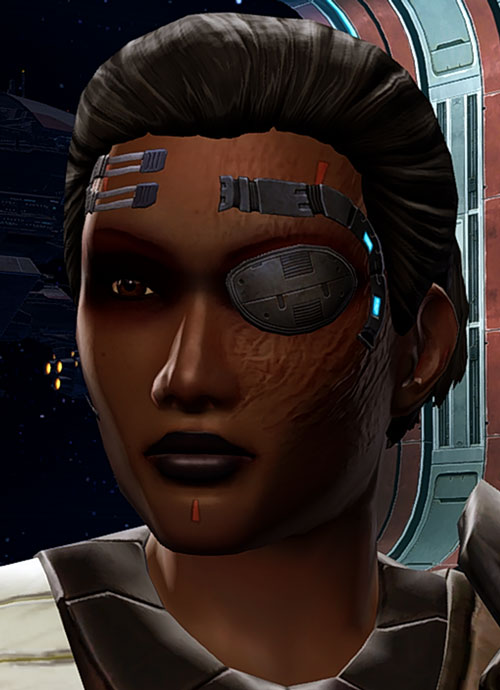 SWTOR - Star Wars the Old Republic- Cyborg republic trooper face closeup