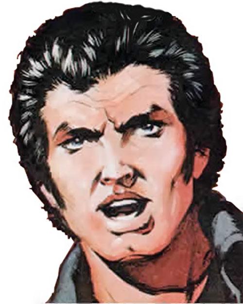 James Blocker from Timequake (2000AD Comics) face closeup color