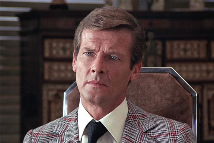 James Bond (Roger Moore) with a vintage vest