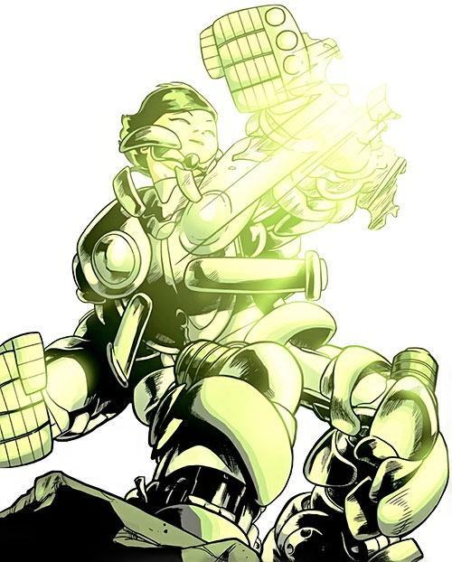 Japandroid of the Guardians of the Globe (Image Comics) armored up