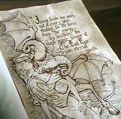 Javna (Charmed demon) in the Book of Shadows