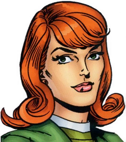 Jean Grey of the X-Men (Marvel Comics) vintage face closeup