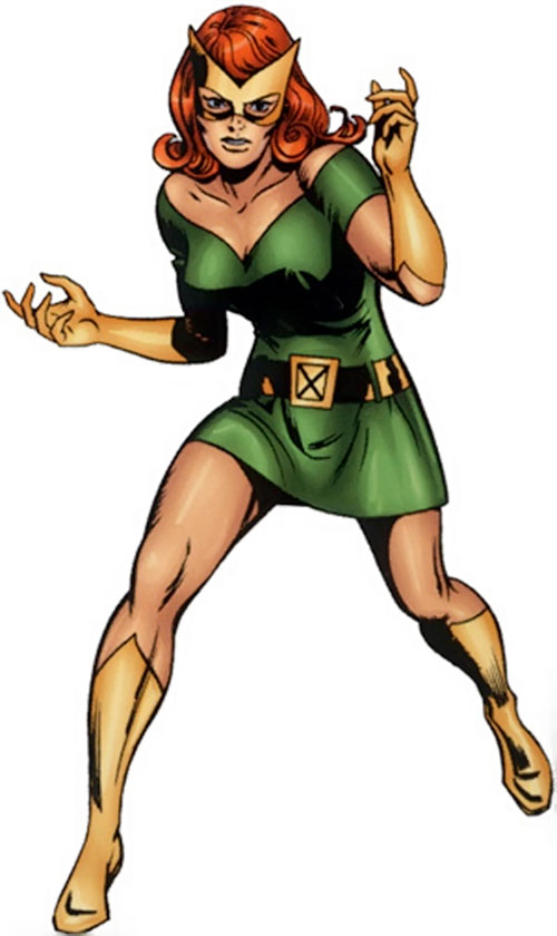 Jean Grey of the X-Men (Marvel Comics) with the Marvel Girl green minidress
