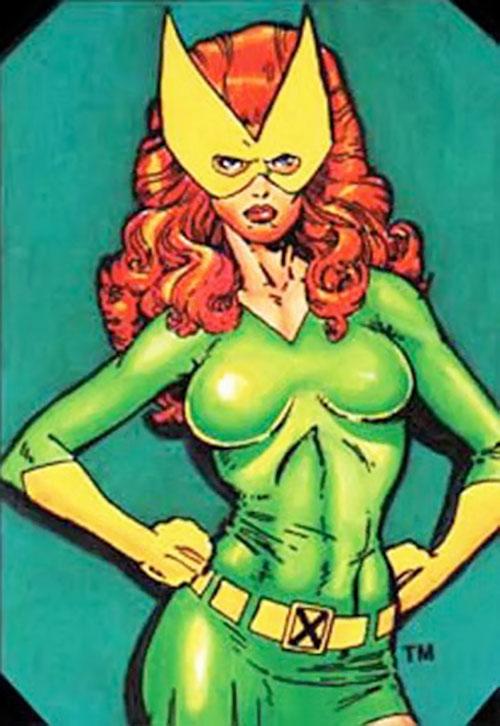 Jean Grey of the X-Men (Marvel Comics) posing as Marvel Girl