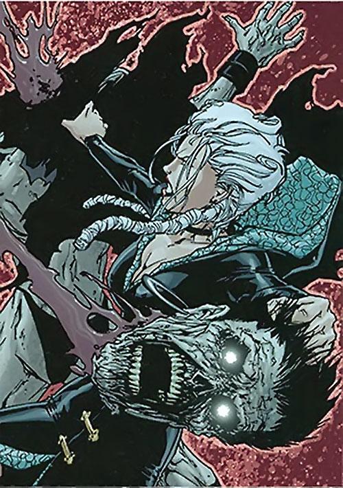 Jeanette of the Secret 6 (DC Comics) fighting zombie Black Lanterns