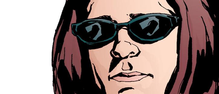 Jessica Jones with cheap sunglasses