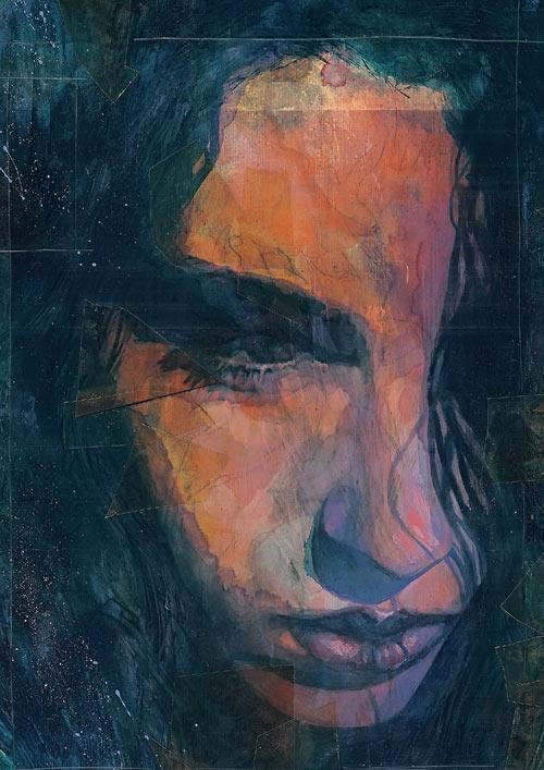 Jessica Jones (Marvel Comics) sad portrait
