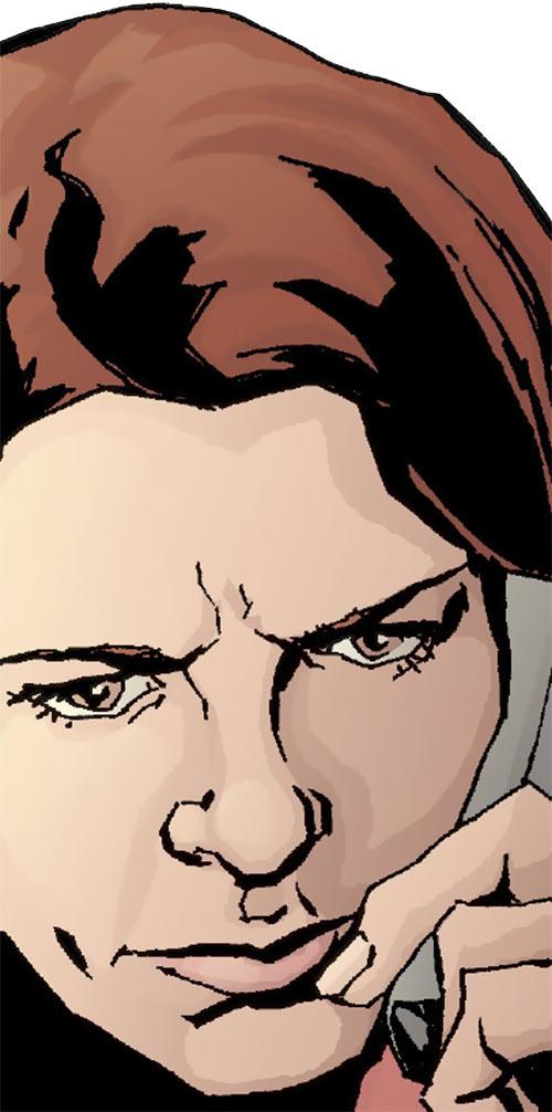 Jessica Jones (Marvel Comics) face closeup