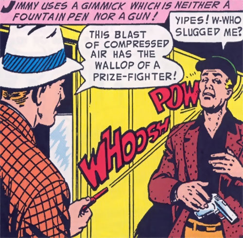 Jimmy Olsen, Superman's Pal uses his trick pen