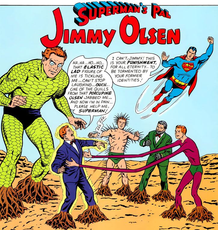 Jimmy Olsen, Superman's Pal, and his superhuman identities