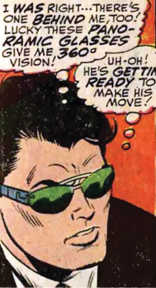 Jimmy Woo of SHIELD (Marvel Comics) with special sunglasses