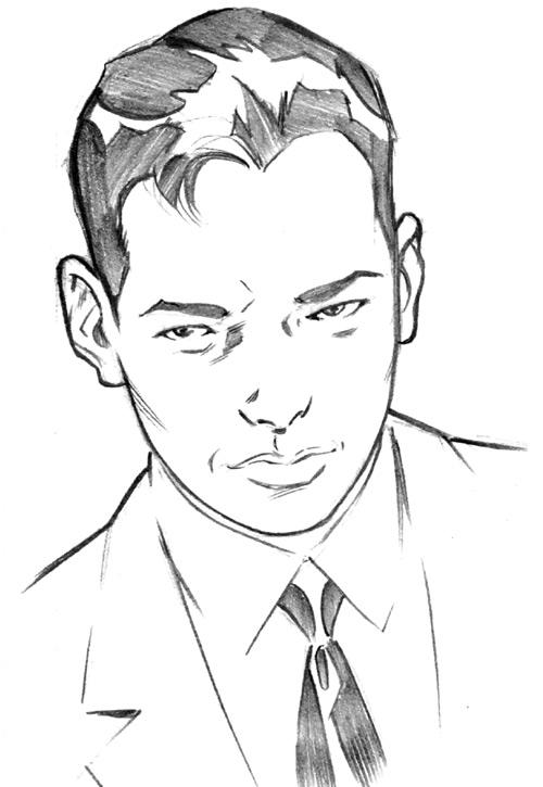 Jimmy Woo (Marvel Comics) in 1958, sketch by Leonard Kirk