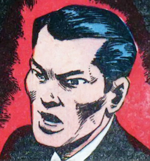 Jimmy Woo (1950s version) (Atlas Comics) on a red and black background