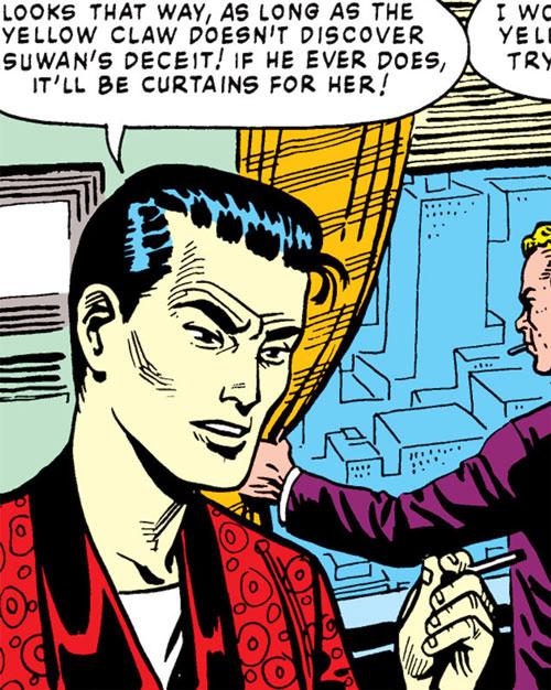 Jimmy Woo (1950s version) (Atlas Comics) smoking