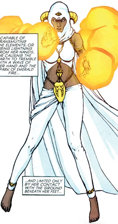 Jinx of the Fearsome Five (DC Comics) casting yellow magic