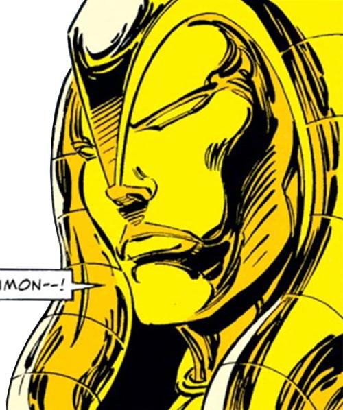 Jocasta of the Gatherers (Avengers enemy) (Marvel Comics) face closeup