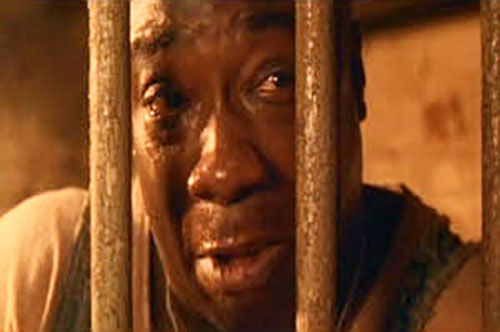 John Coffey (Michael Clarke Duncan in The Green Mile) (Stephen King) face behind bars