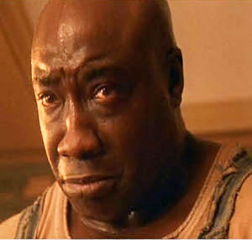 John Coffey (Michael Clarke Duncan in The Green Mile) (Stephen King) face closeup