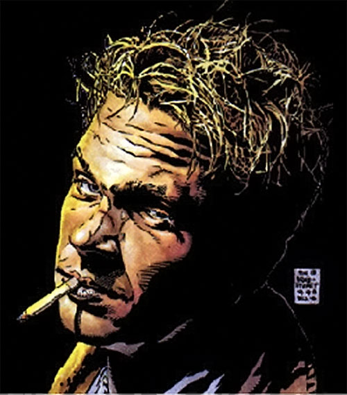 John Constantine Hellblazer (DC Comics) face closeup Bradstreet