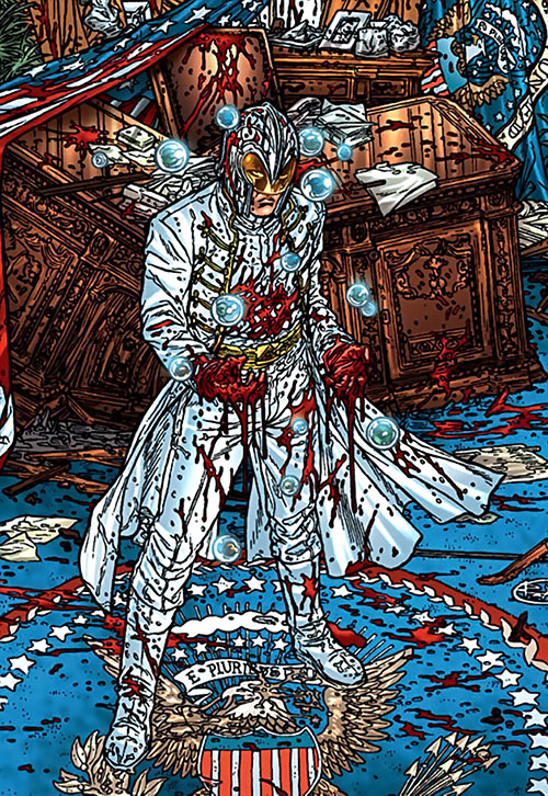 John Horus (Black Summer Avatar Comics) in a blood-splattered Oval Office of the White House