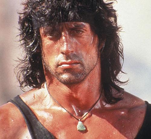 John Rambo (Sylvester Stallone) closeup