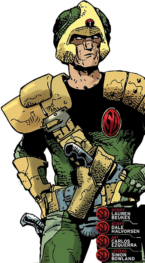 Johnny Alpha the Strontium Dog (2000 AD Comics) in action