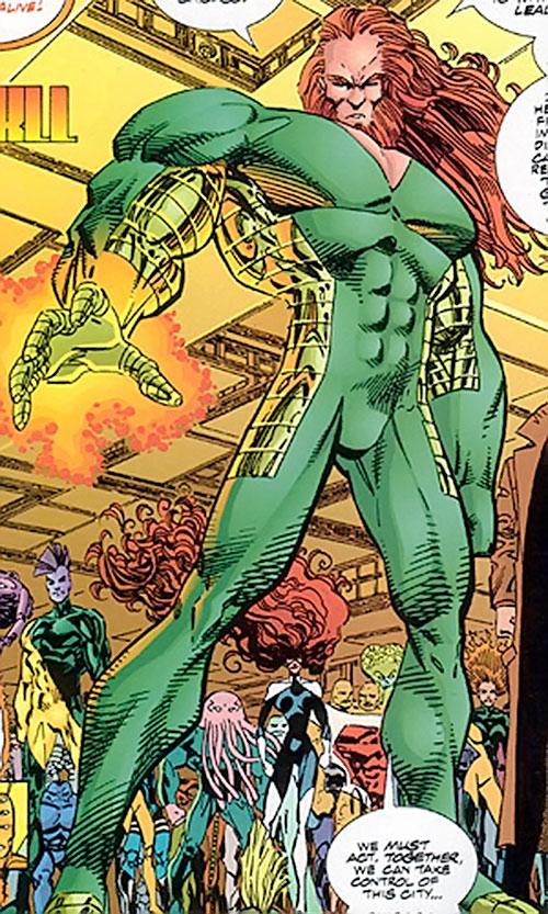 Johnny Redbeard (Savage Dragon Comics) with his army of superhumans
