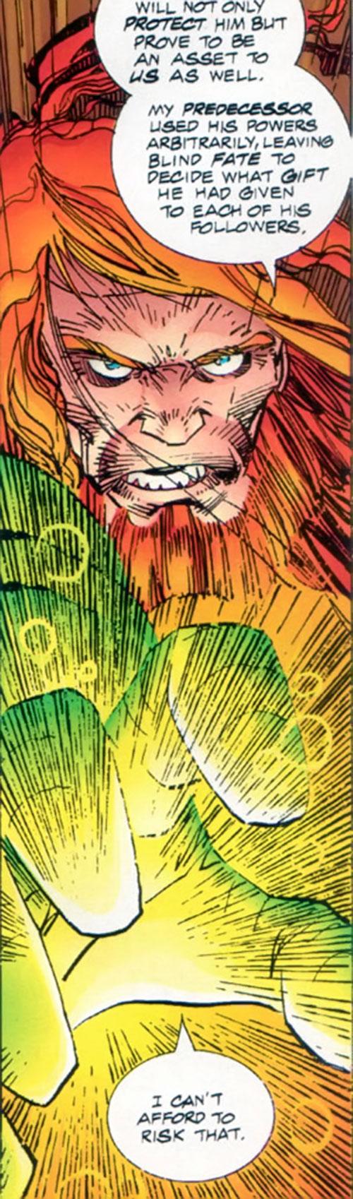 Johnny Redbeard (Savage Dragon Comics) with his hand glowing