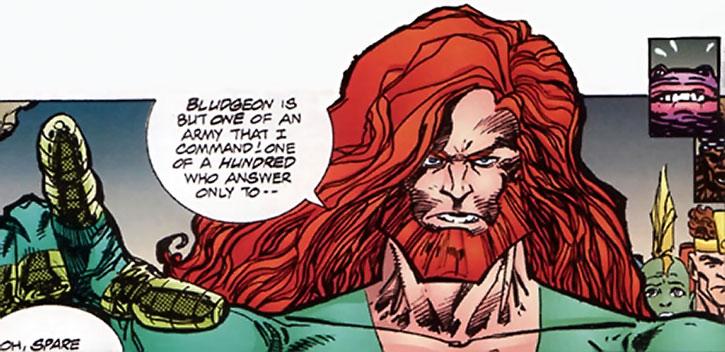 Johnny Redbeard face closeup